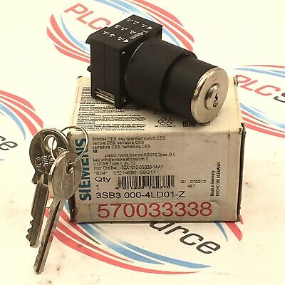 Siemens 3Sb3 000-4Ld01-Z  Key Operated Switch