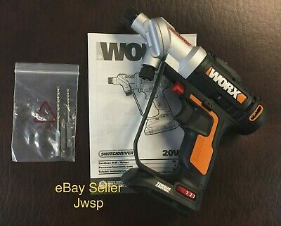 New WORX 20V Switchdriver WX176LCordless Drill & Driver (Tool Only)