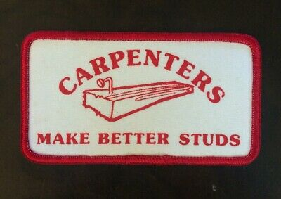 "Carpenters.  "" Make Better Studs"" LoL 😂 Lol🤪😝 In Red Blue Black 4.5""x2.5"" In"