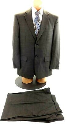 Pronto Uomo Men's Olive Green Wool Silk Blend Suit 40S 34 X 29 Pants