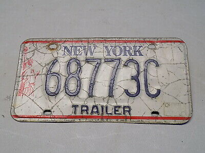 1986 - 2000 New York Trailer License Plate 68773C Statue of Liberty FastFreeShip