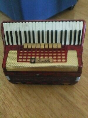 Vintage Piano Accordion Red Scandalli