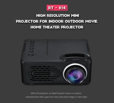 RD-814 1080P Cine En Casa Cine Led Mini Proyector Multimedia Para Movietext LED
