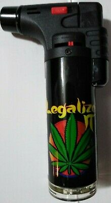 "Soreaming Eagle Torch Refillable Legalize IT Windproof Jet Lighter Size 4"" Black"