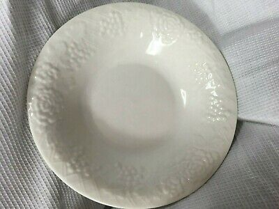 Gibson white fruit grapes embossed pattern china soup cereal bowl