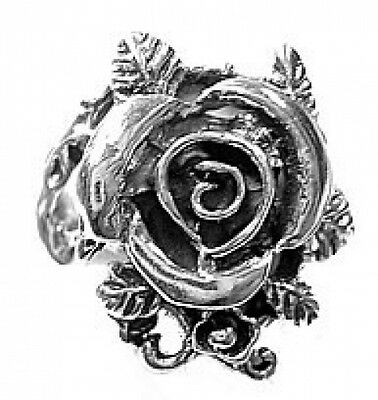 COOL Sexy Sterling Silver .925 Enchanted Forest Rose ring