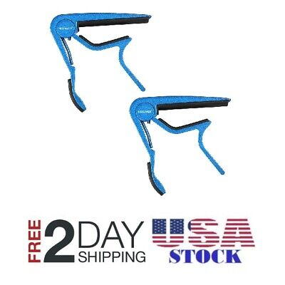 Neewer Blue Single-handed Quick Change Electric Acoustic 6-string Guitar Capo