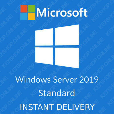 Windows Server 2019 Standard 64-bit Genuine License Key and Download