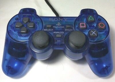 Sony Playstation 2 PS2 Dualshock 2- SCPH10010 Wired Gamepad - OEM - Clear Blue