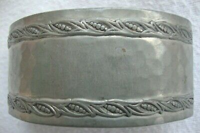 Arts & Crafts Liberty & Co. Bmc  Tudric Pewter Napkin Ring Numbered 5075 Quality