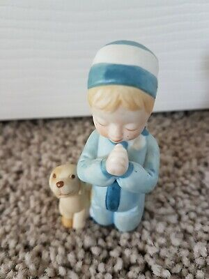 Hollie Hobbie Child and Dog Figurine Vintage
