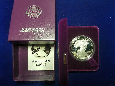 1986-S $1 Proof Silver American Eagle Dollar US Mint with COA