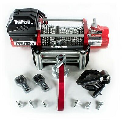 Electric Winch 13000lb Stealth 12v Steel Rope Wireless Recovery 4x4 UK Stock