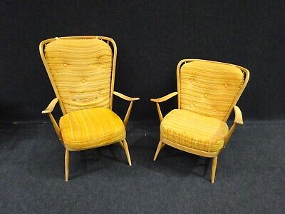 Pair Of Ercol Day Bed Chairs Ladies And Gents Vintage Danish Retro