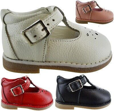 Infants Childrens Kids Baby Wedding Party Buckle School Spanish Shoes Girls Size
