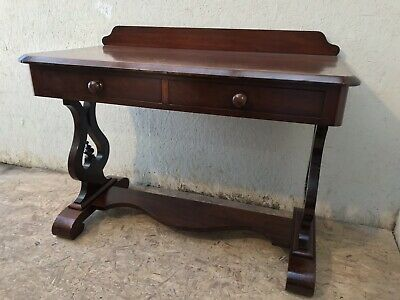 Victorian mahogany console side table with 2 drawers in beautiful condition.