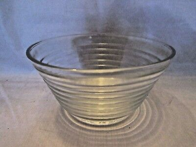 Vintage Glass Round Refrigerator Dish Bowl Container NO Lid, Ring pattern