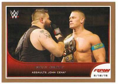 2016 Topps WWE Road to Wrestlemania Bronze Parallel #33 Kevin Owens
