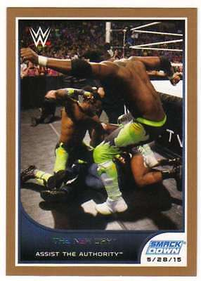 2016 Topps WWE Road to Wrestlemania Bronze Parallel #35 The New Day