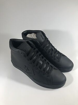 8144fd65b017 Converse Pro Leather 76 Mid 155334C All Star Black Casual Mens Shoe Size 9.5