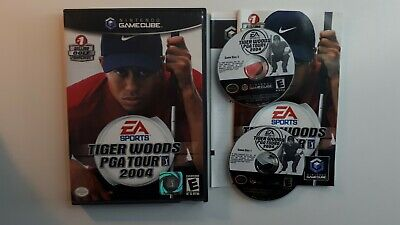 Tiger Woods PGA Tour 2004 (Nintendo GameCube, 2003) COMPLETE FAST FREE SHIPPING