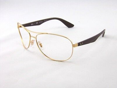98f1afb47c Ray Ban RB3526 112 83 63mm Sunglasses Matte Gold  Brown Frames ONLY RX  Glasses
