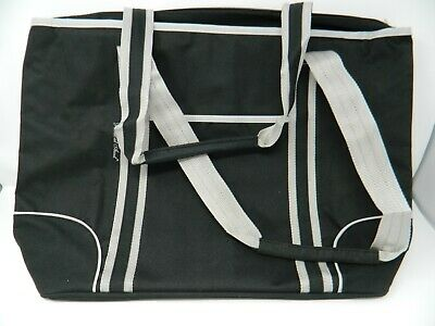 1700f9e4e1d Picnic At Ascot Extra LARGE Insulated Cooler Bag Granite Black grey line  21x16