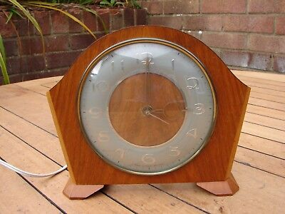 Smiths Electric Mantle Clock Vintage Retro 1960s Spares / Repairs