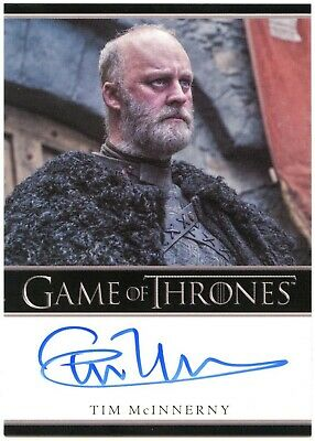 Tim McInnerny Lord Robert Glover Game Thrones S7 Bordered Autograph Card C2431