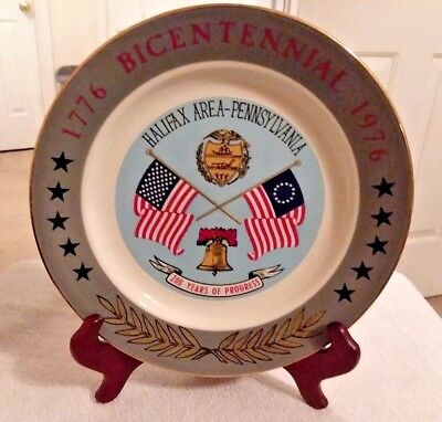 Vintage Beautiful Rare Numbered Halifax Silver Belles Bicentennial Plate W Stand