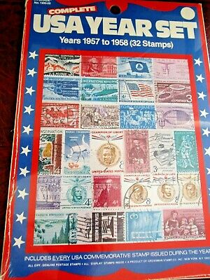 Usa Commemorative Stamps Year Set - 1957 To 1958