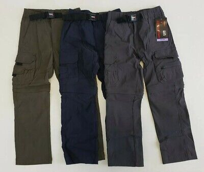 UnionBay Youth Convertible Zip Pants/Shorts, Size XS 5/6 or S 7/8, Choose Color