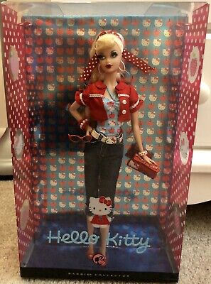 Barbie Hello Doll Kitty 2008 Pink Label Collector Pop Mattel Sanrio New Culture