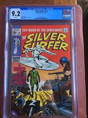 Silver Surfer 10 CGC 9.2 White Buscema Stan Lee SWEET Original Owner