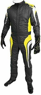 K1 Racing Nomex Fire Suit Multi-Layer SFI 3-2A/5 XXL Yellow New Package