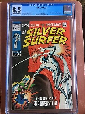 Silver Surfer 7 CGC 8.5 OW/W Buscema Stan Lee SWEET Original Owner