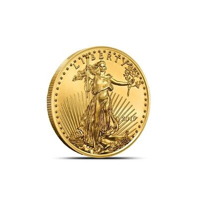 2019 1/10 oz $5 American Gold Eagle Coin - Gem BU - Fresh From Mint Rolls!