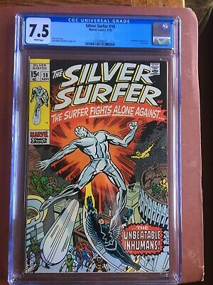 Silver Surfer 18 CGC 7.5 White Buscema Stan Lee SWEET Original Owner