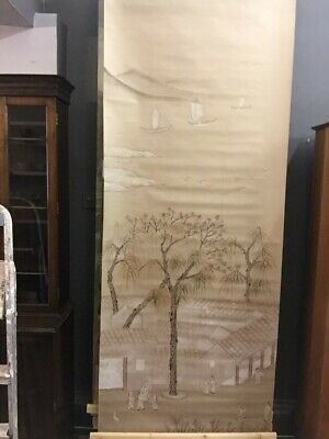 Handpainted Chinoiserie Panel on Silk backed paper RRP £350 sale price £150