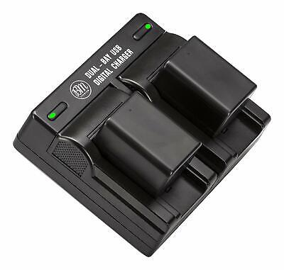 BM Premium Battery (2-Pack) and Dual Charger for Canon BP718