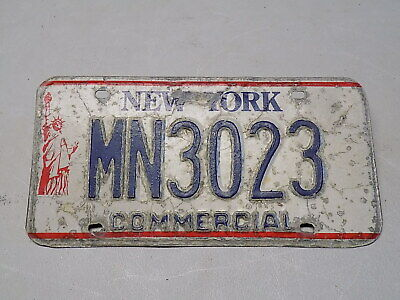 1986 - 2000 New York Commercial License Plate MN3023 Statue of Liberty ~FreeShip