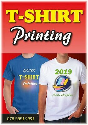 Personalised T-Shirt - Custom Photo/Image Printed Party Promotional | Adult/Kids