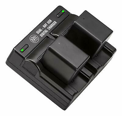 BM Premium Battery (2-Pack) and Dual Charger for Canon BP727