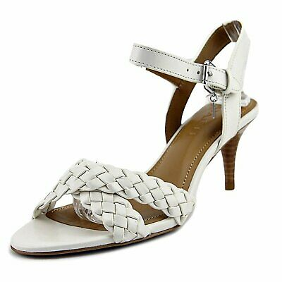 708e6d87d90 COACH WOMENS MARILYN Leather Open Toe Casual Strappy Sandals