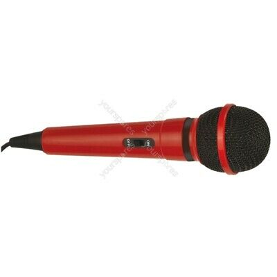 Mr Entertainer Dynamic Handheld Karaoke Microphone with 3.5mm Plug - Colour Red