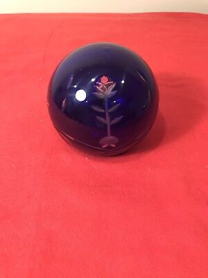 Beautiful Paperweight Cobalt Blue Cut Lucite Large Gorgeous