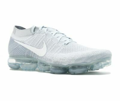 Nike Air Vapormax Flyknit Pure Platinum White Wolf Grey 849558 004 Size US 12.5