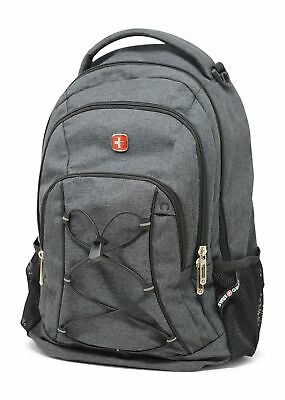 1d8a8dce6d72 SWISSGEAR TRAVEL GEAR Lightweight Bungee Backpack (Heather Grey ...