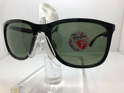 74a5bf9f47 Authentic Ray Ban Sunglasses Rb4313 601/9A 58Mm Black/Green Polarized Lens