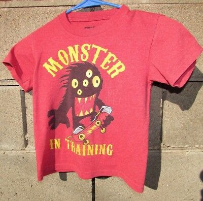 a1dedaff0e0f Macy's Valentine's T shirt toddler boys size 4t 5t black red black monster  New